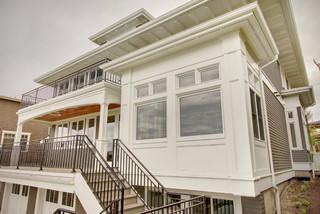 现代美式风格小公寓白色欧式家具大客厅电视背景墙设计