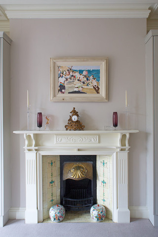 美式风格卧室复式室内白色厨房门厅柜装修