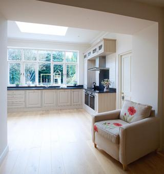 美式风格客厅复式大厅白色门厅过道吊顶装修效果图