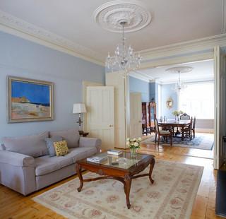 美式风格客厅80复式楼门厅过道吊顶改造