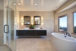 北欧风格客厅三层独栋别墅阳台花园品牌浴室柜效果图