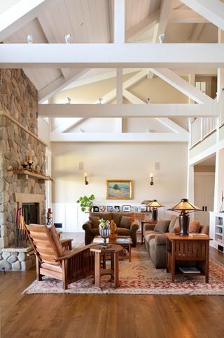美式风格卧室一层半别墅门厅玄关装修图片