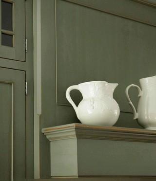 美式风格40白色地毯餐厅背景墙效果图