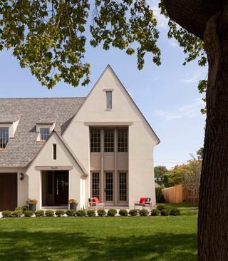 美式风格200平米别墅暖色调庭院围墙装潢