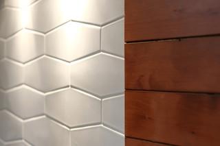田园风格片三层连体别墅白色橱柜露台花园中式电视背景墙装修效果图