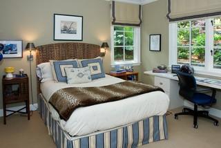 美式田园风格富裕型140平米以上7平方卧室装修效果图
