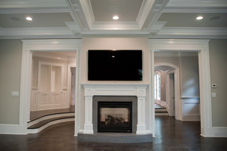 欧式风格客厅富裕型壁炉效果图