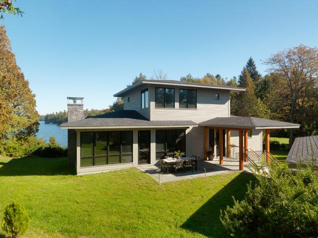田园风格室内效果图 现代简约风格餐厅2层别墅暖色调豪华型设计图图片