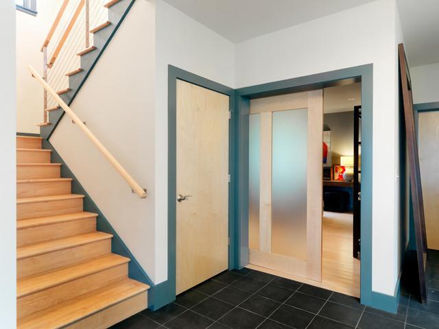 现代简约风格卫生间三层独栋别墅豪华型客厅玄关吊顶装潢