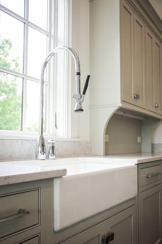 北欧风格一层别墅白色橱柜富裕型装修效果图