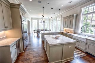 北欧风格卧室一层半小别墅富裕型厨房餐厅客厅一体装修效果图