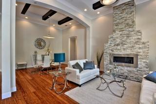 欧式风格卧室100平米房屋半开放式厨房折叠餐桌图片