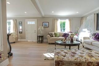 现代欧式风格100平米三室两厅开放式厨房客厅红木家具餐桌图片