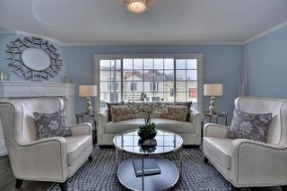 欧式风格100平米房屋开放式厨房折叠餐桌效果图