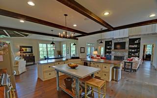 舒适暖色调2013厨房吊顶客厅过道效果图