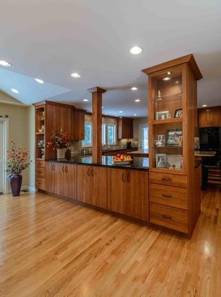 混搭风格原木色家居富裕型140平米以上装修效果图