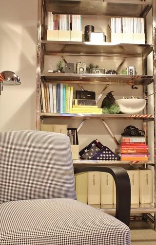 简约风格卧室经济型电脑桌书架图片