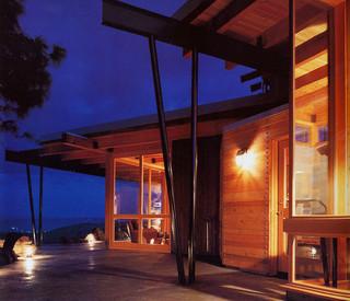 现代简约风格富裕型140平米以上露台花园效果图