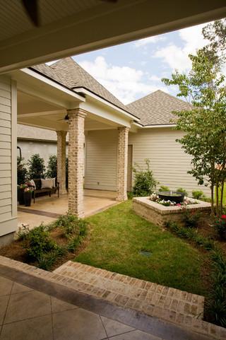 欧式风格客厅卧室温馨富裕型140平米以上一楼花园装修图片
