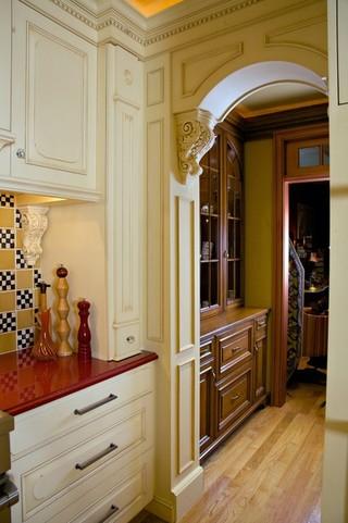 混搭风格富裕型140平米以上卧室与客厅隔断效果图