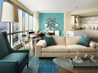 混搭风格富裕型布艺沙发床效果图