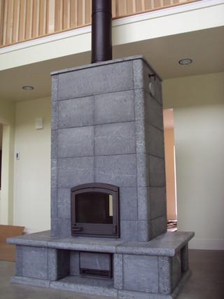 混搭风格客厅富裕型140平米以上砖砌真火壁炉设计图图片
