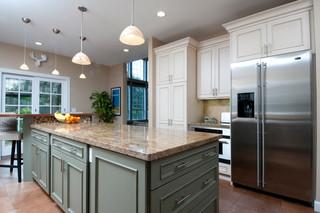 现代欧式风格暖色调富裕型4平米厨房大理石餐桌图片