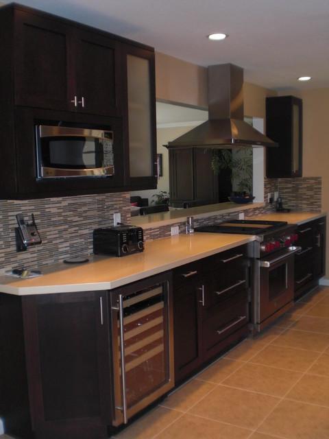 新古典风格低调奢华咖啡色富裕型4平米小厨房装修