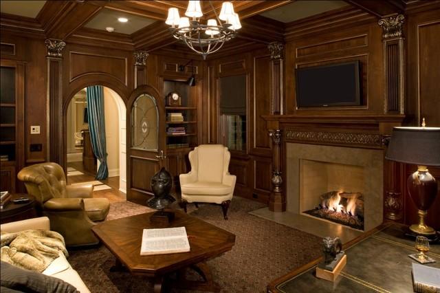 欧式风格富裕型140平米以上小客厅电视墙设计图