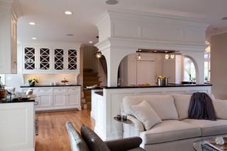 欧式风格家具暖色调富裕型卧室客厅隔断设计图