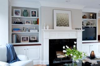 欧式风格暖色调富裕型砖砌真火壁炉设计图效果图