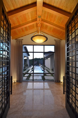 混搭风格度假别墅富裕型140平米以上门厅过道吊顶效果图