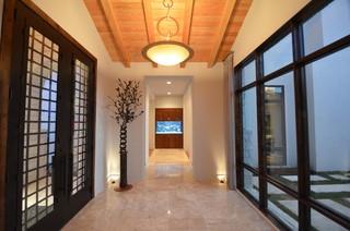 混搭风格度假别墅富裕型140平米以上走廊吊顶装修效果图
