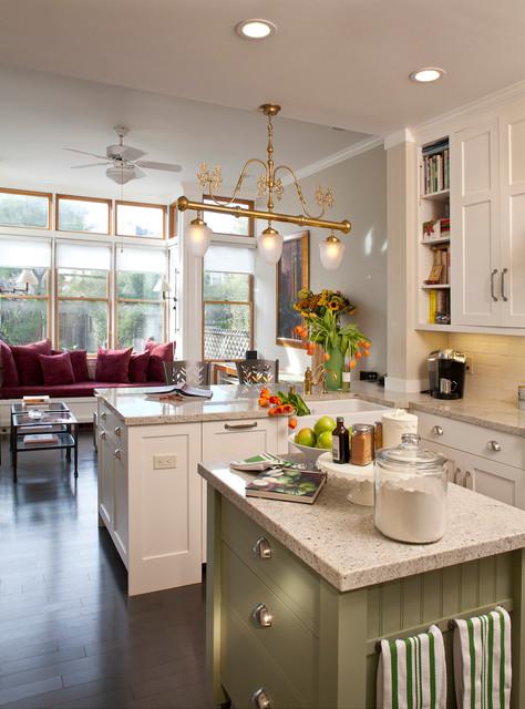 现代欧式风格暖色调富裕型140平米以上整体厨房颜色效果图