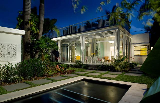 现代简约风格经济型140平米以上庭院绿化装修效果图图片