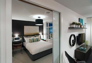 简约风格电视背景墙经济型2012最新卧室装修效果图