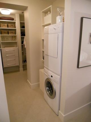 简约风格客厅经济型洗衣房效果图