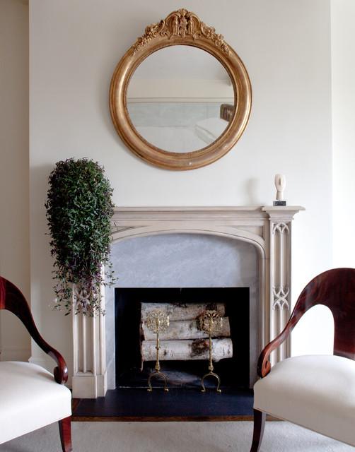 现代简约风格餐厅经济型砖砌真火壁炉设计图效果图