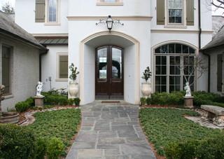 田园风格窗帘富裕型140平米以上家庭庭院设计图纸