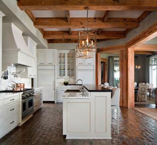 田园风格玄关富裕型140平米以上小户型开放式厨房效果图