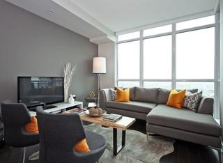 最爱黑白灰的世界  小白领的单身公寓