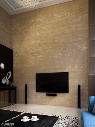 欧式风格复式奢华电视背景墙装修效果图