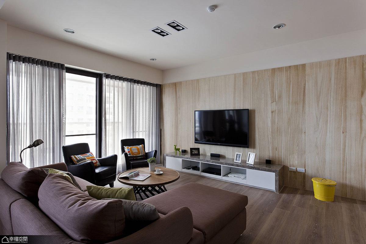 唯美北欧客厅沙发背景墙装修效果图图片