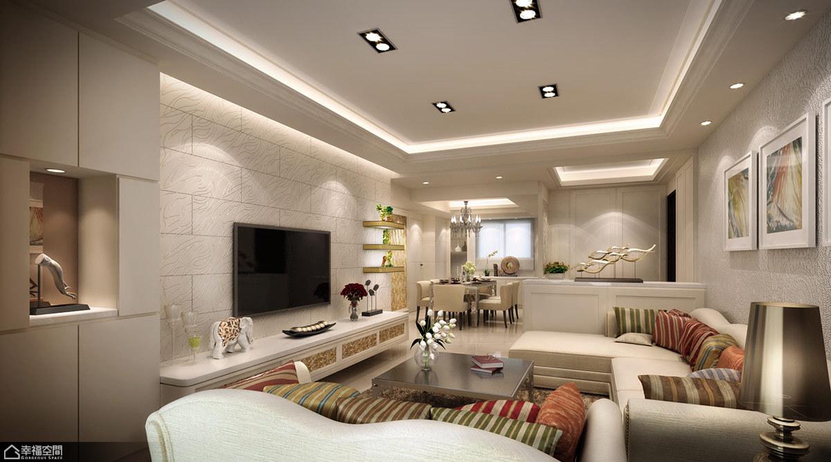 法式风格奢华客厅旧房改造家装图片