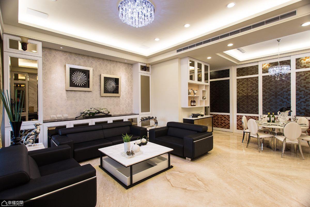 简约风格别墅舒适沙发背景墙效果图