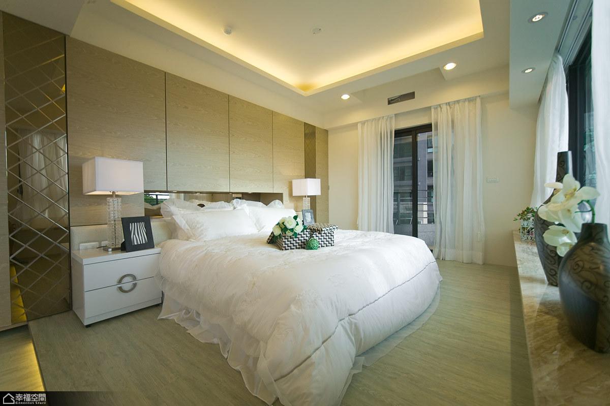 新古典风格海边别墅唯美卧室装修图片