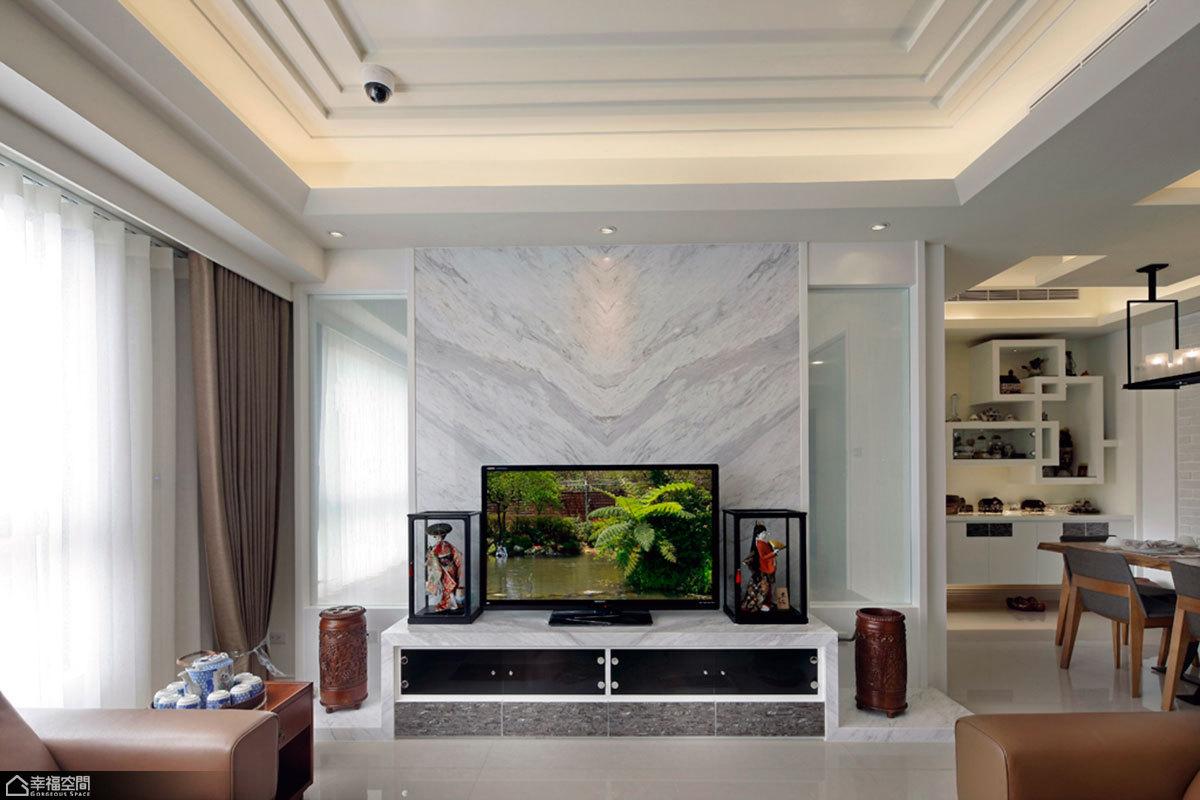 北欧风格卧室乐活小客厅电视墙效果图图片