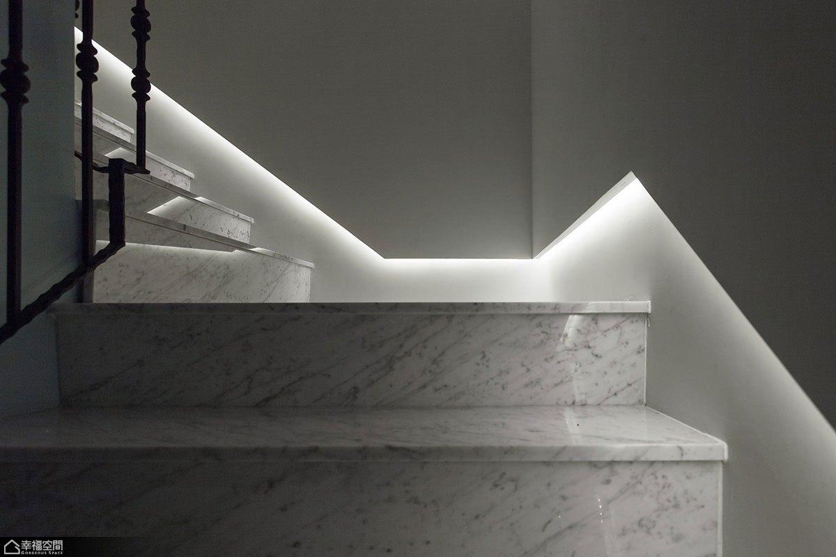 新古典风格别墅小清新楼梯设计图