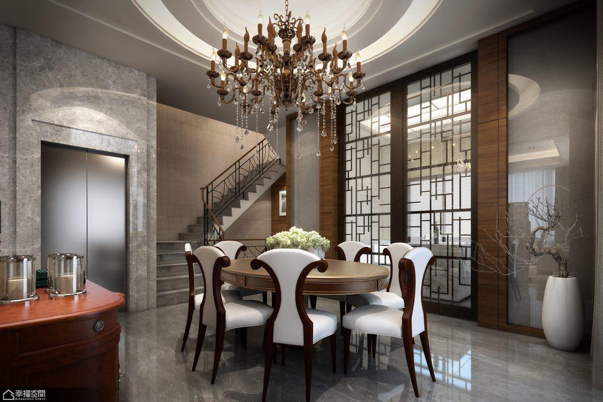 欧式风格别墅奢华餐厅设计