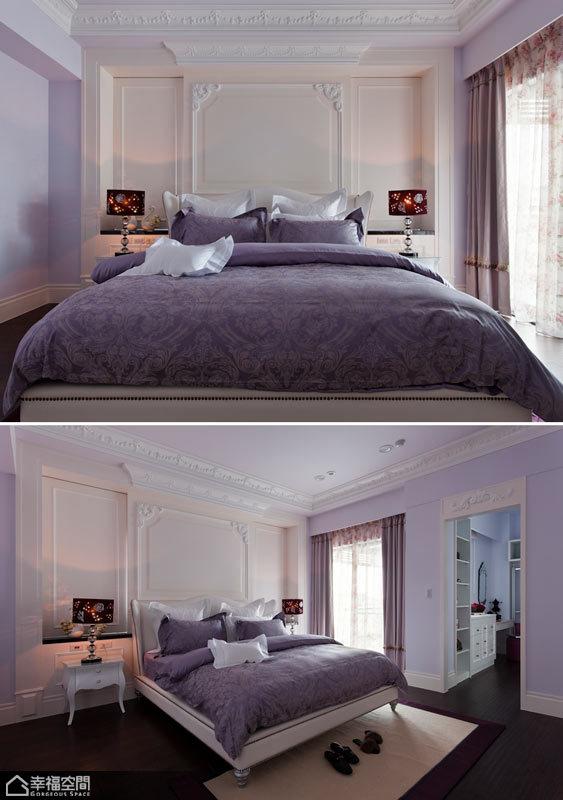 英伦风格别墅小清新卧室装修图片